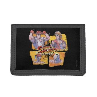 Ryu Vs Ken & Adon Vs Sagat Tri-fold Wallet