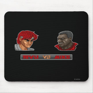Ryu Vs Mike Mouse Pad