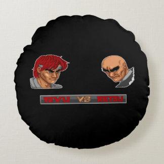 Ryu Vs Retsu 2 Round Pillow