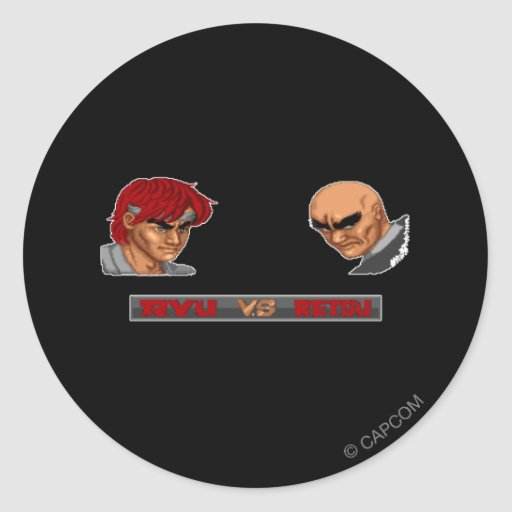 Ryu Vs Retsu Classic Round Sticker
