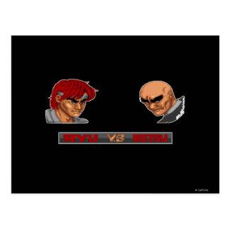 Ryu Vs Retsu Postcard