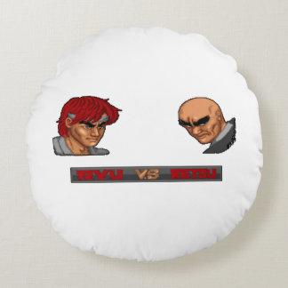 Ryu Vs Retsu Round Pillow
