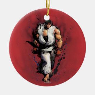 Ryu Walking Double-Sided Ceramic Round Christmas Ornament