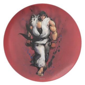 Ryu Walking Party Plates