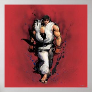Ryu Walking Poster