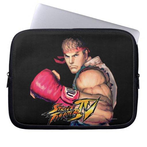Ryu with Fist Raised Laptop Sleeve