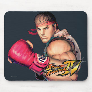 Ryu with Fist Raised Mouse Pad