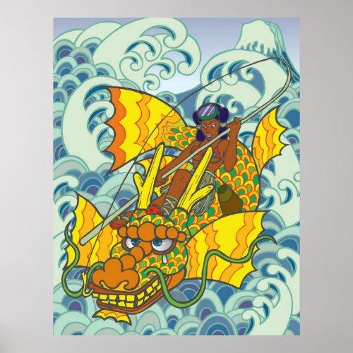 Dowel, The Palace of the Sea Goddess, wave, gold, fuji, Fuji, Fishing, animal, sea, toronto, otaku, manga, monterrey, montreal, tokyo, edo, akihabara, Edo, lady, asia, asian, oriental, japan, beauty, Japan, Japanese style, Illustration, Pop