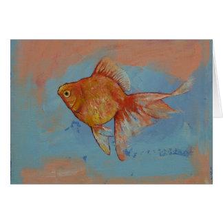 Ryukin Goldfish Greeting Card