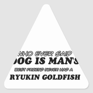 Ryukin Goldfish  pet designs Triangle Sticker
