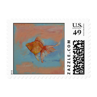 Ryukin Goldfish Postage Stamps