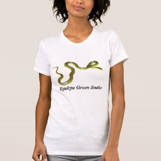 Ryukyu Green Snake Ladies Casual Scoop Tshirts