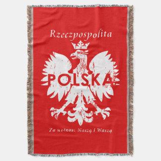 Rzeczpospolita Polska Polish Eagle Emblem Throw Blanket