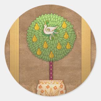 S009 Partridge in a Pear Tree Sticker