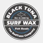 S103 - Black Tuna Surf Wax Sticker