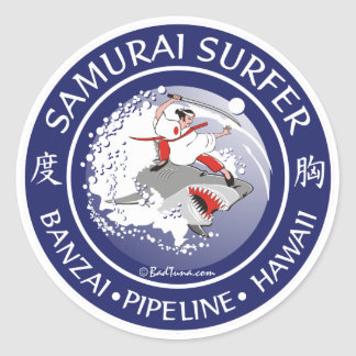 S105 - Samurai Surfer Sticker