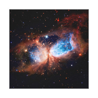 S106 Star Forming Region - NASA Hubble Space Photo Canvas Print