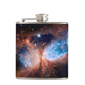 S106 Star Forming Region - NASA Hubble Space Photo Hip Flask