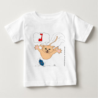 s10 Cat pouncing on Hanukkah Dradle (gimel) Baby T-Shirt