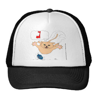 s10 Cat pouncing on Hanukkah Dradle (gimel) Trucker Hat