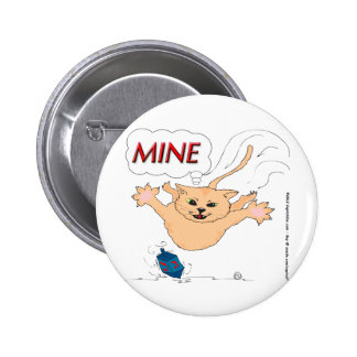 s11 Cat Pouncing on Hanukkah Dradle 2 Inch Round Button