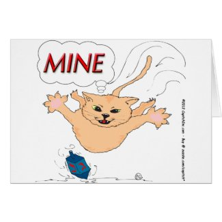 s11 Cat Pouncing on Hanukkah Dradle Card