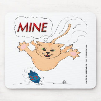 s11 Cat Pouncing on Hanukkah Dradle Mouse Pad