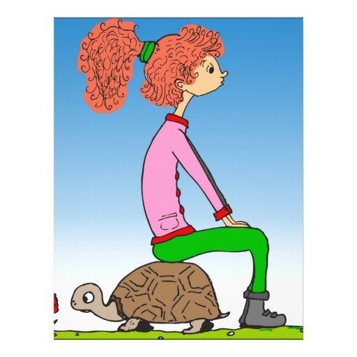 s15 Hannah que se sienta en dibujo animado de la Plantilla De Membrete
