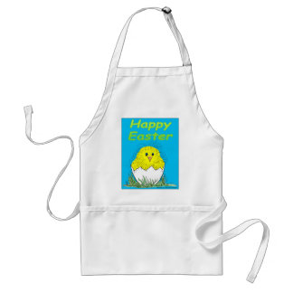 s16 Happy Easter chick cartoon Adult Apron