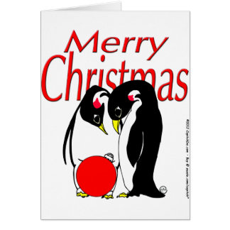 s17 Christmas Penguins Greeting Card
