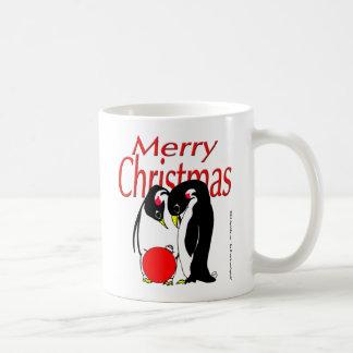 s17 Christmas Penguins Classic White Coffee Mug