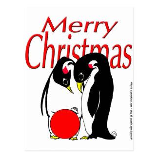 s17 Christmas Penguins Postcard