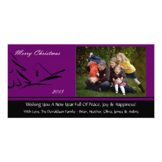 S2 Simple Beauty-Plumb Christmas Photo Cards
