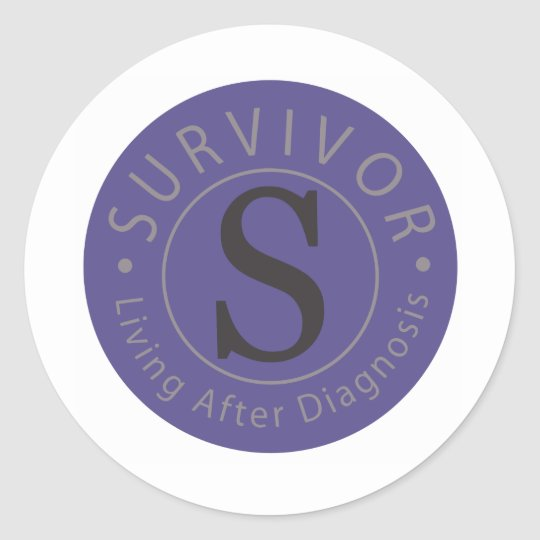 S2S Survivor logo design series Classic Round Sticker