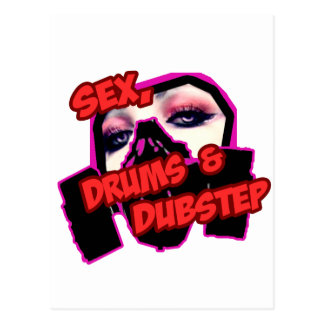 S3X DRUMS and DUBSTEP Postcard