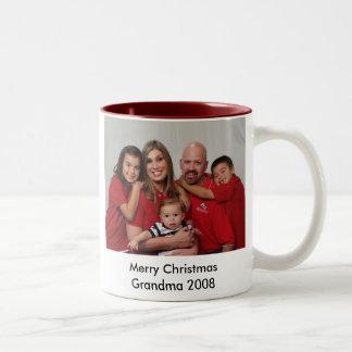 s42028ca107515_6, Merry Christmas Grandma 2008 Two-Tone Coffee Mug