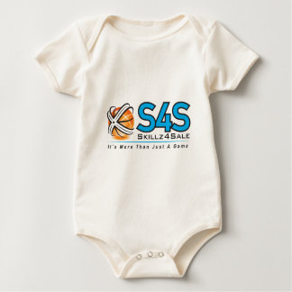S4S black on white Baby Bodysuit