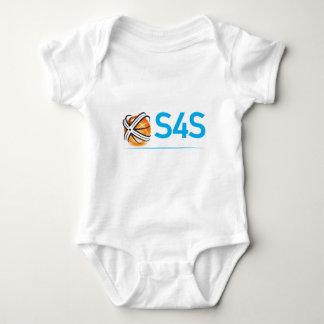 S4S  white on black Infant Creeper