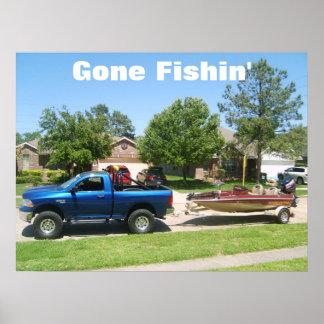 S5001540, Gone Fishin' Print