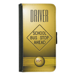 S5 Driver monogrammed Wallet Phone Case For Samsung Galaxy S5