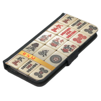 S5 Mahjong monogrammed Samsung Galaxy S5 Wallet Case