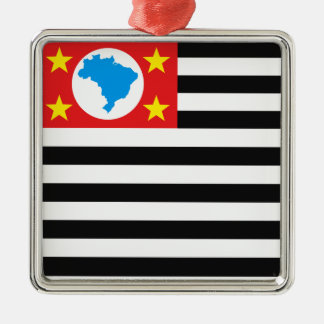 S6ao Paulo flag Metal Ornament