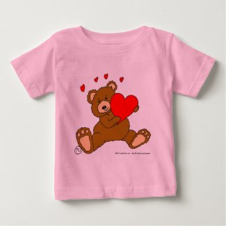s7 Valentine Heart Bear Baby T-Shirt