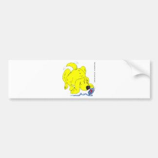 s9 Hanukkah Dog Watching Dradle Bumper Sticker