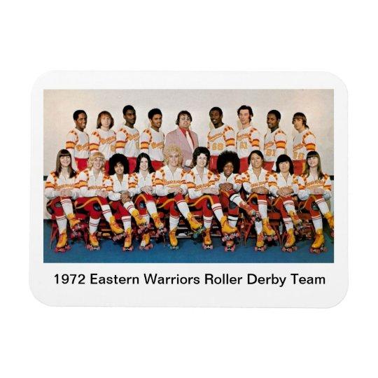 S: 1972 Easter Warriors Roller Derby Team Magnet