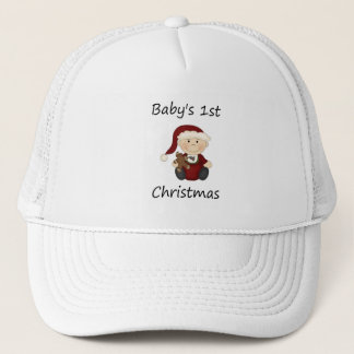 s 1st Christmas (boy) Trucker Hat