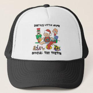 s 1st Christmas Santa's Little Helper Gift Trucker Hat