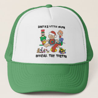 s 1st Christmas Santa's Little Helper Gift Trucker Hat