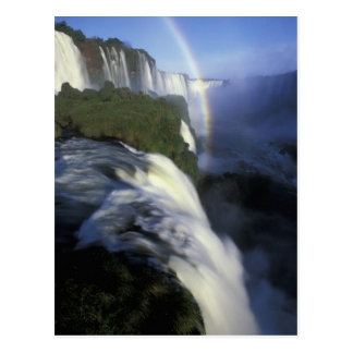 S.A., Brazil, Iguassu Falls Falls with rainbow Postcard