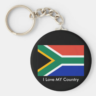 S Africa Flag The MUSEUM Zazzle I Love MY Country Keychains